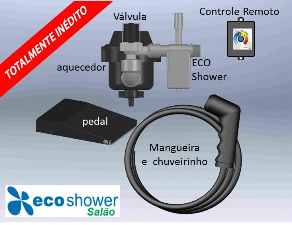 Aquecedor Inteligente de Água ECO Shower Salão – 220 VAC x 4.400 W