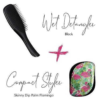 Kit Wet Detangler Black + Palm Flamingo