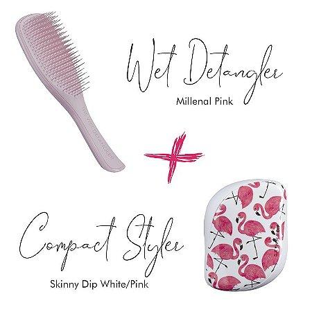 Kit Wet Detangler Pink + Flamingo White/Pink