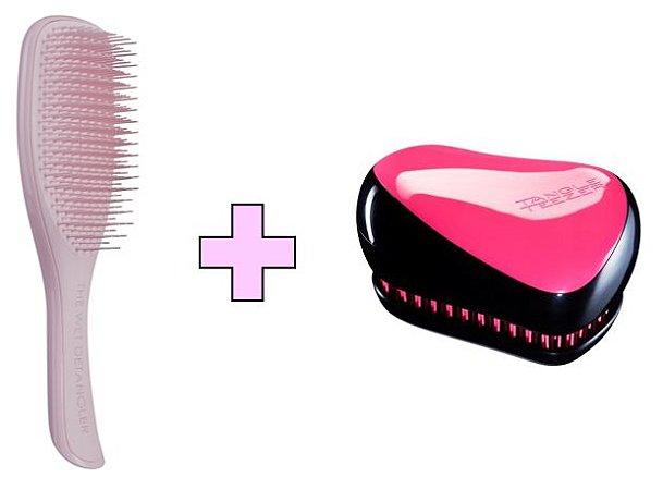 Kit Wet Detangler Pink + Compact Styler Pink