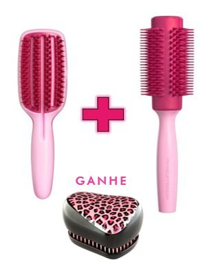 Kit - Blow Styling Half Paddle Pink + Blow Styling Round Tool Large Pink (Ganhe 1 Compact Styler Pink Kity)