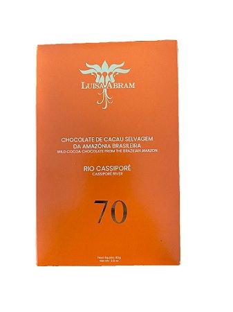 Barra de Chocolate 70% Cacau Selvagem - Rio Cassipore - Luisa Abram