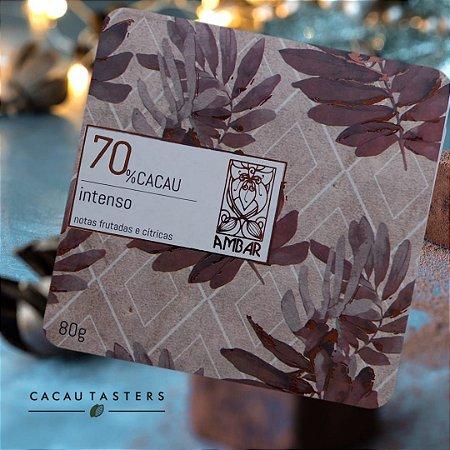 Barra de Chocolate Intenso 70% Cacau - Ambar Chocolates