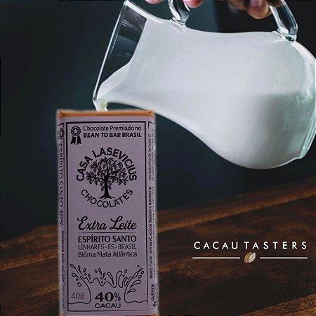 Barra de Chocolate Ao Leite 40% Cacau Extra Leite - Casa Lasevicius Chocolates