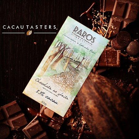 BARRA DE CHOCOLATE 53% CACAU AO LEITE - RAROS FAZEDORES DE CHOCOLATE