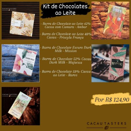 Kit de Chocolates ao Leite - Cacau Tasters