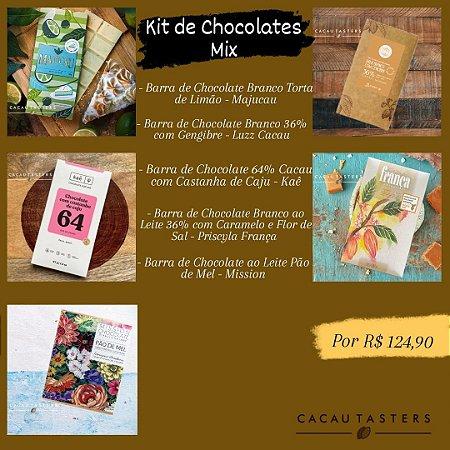 Kit de Chocolates Mix - Cacau Tasters