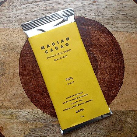 Barra de Chocolate 70% Cacau Catongo - Magian Cacao