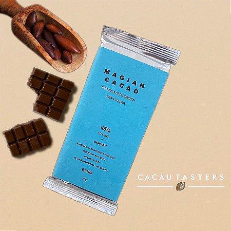 Barra de Chocolate 45% Cacau ao Leite + Cumaru - Magian Cacao