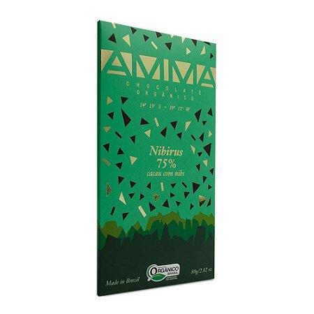 Barra de Chocolate 75% Cacau com Nibs Amma