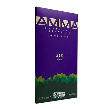 Barra de Chocolate Orgânico 85% Cacau - Amma