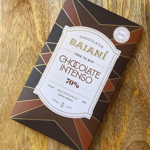 Barra de Chocolate 70% Cacau Trinitário Torra Sutil Terroir Lagoa Baianí