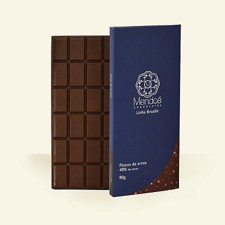 Mendoá - Chocolate 40% ao leite com Flocos de Arroz