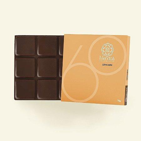 Barra de Chocolate 60% Cacau com Gengibre Mendoá