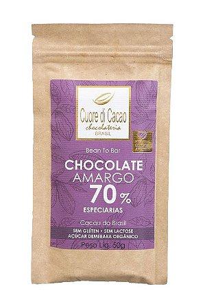 Barra de Chocolate Amargo 70% Cacau com Especiarias - Cuore di Cacao
