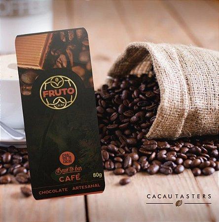 Barra de Chocolate 61% Cacau com Café Fruto Cacau