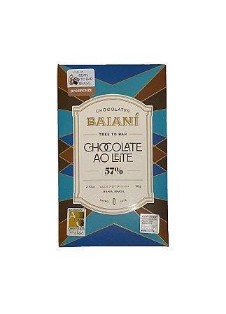 Barra de Chocolate ao Leite Dark Milk 57% Cacau Trinitário - Baianí