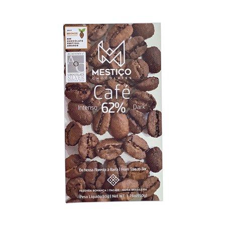 Barra de Chocolate 62% Cacau com Café - Mestiço