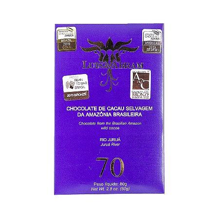 Barra de Chocolate 70% Cacau Selvagem - Rio Juruá - Luisa Abram