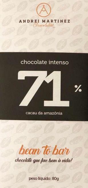 Barra de Chocolate 71% Cacau - Andrei Martinez