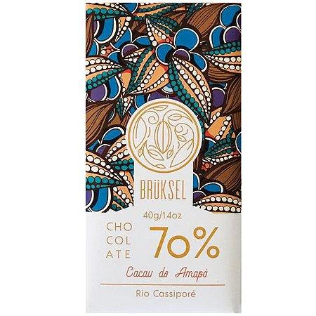 Barra de Chocolate 70% Cacau Rio Cassiporé - Brüksel