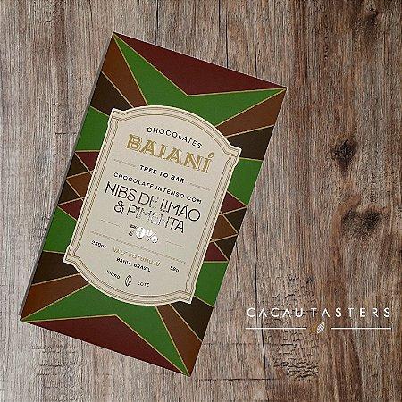 Barra de Chocolate 70% Cacau Trinitário com Nibs de Limão e Pimenta - Baianí