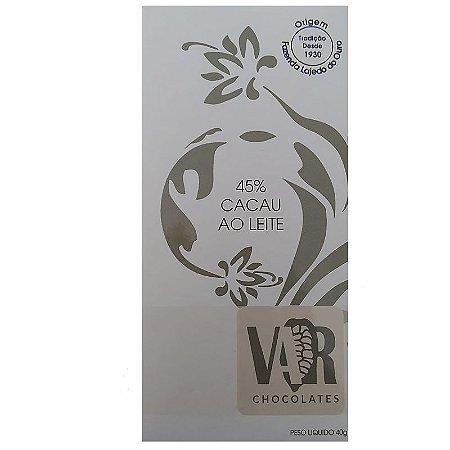 Barra de Chocolate - VAR - 45% Cacau ao Leite
