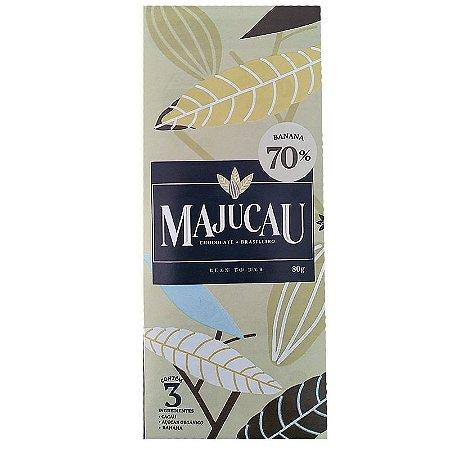 Barra de chocolate 70% cacau com banana - Majucau