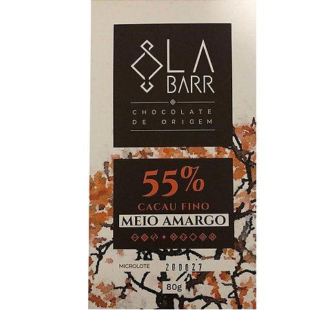 Barra de Chocolate 55% Cacau Meio Amargo - LaBarr Chocolate de Origem