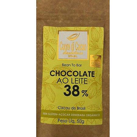Barra de Chocolate 38% Cacau ao leite - Cuore di Cacao