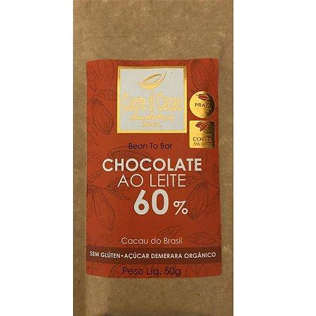 Barra de Chocolate 60% Cacau ao leite - Cuore di Cacao