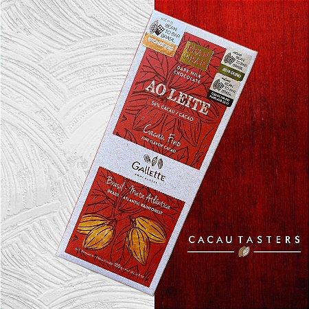 BARRA DE CHOCOLATE AO LEITE 56% CACAU - GALLETTE CHOCOLATES