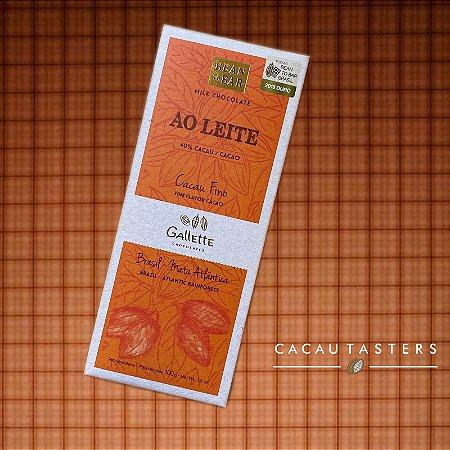 BARRA DE CHOCOLATE AO LEITE 40% CACAU - GALLETTE CHOCOLATES