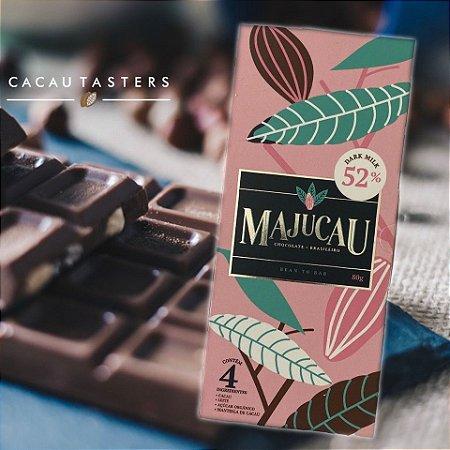 Barra de chocolate 52% CACAU DARK MILK - Majucau