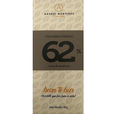 Barra de Chocolate 62% Cacau - Andrei Martinez