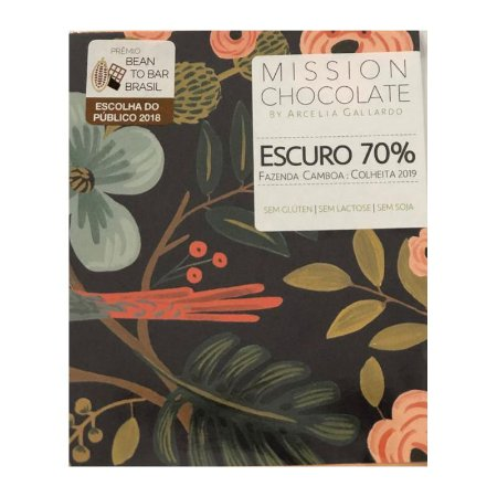 Barra de Dark Chocolate 70% – Fazenda Camboa – MISSION CHOCOLATES by Arcelia Gallardo