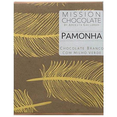 Barra de CHOCOLATE BRANCO COM MILHO VERDE - PAMONHA – MISSION CHOCOLATES by Arcelia Gallardo
