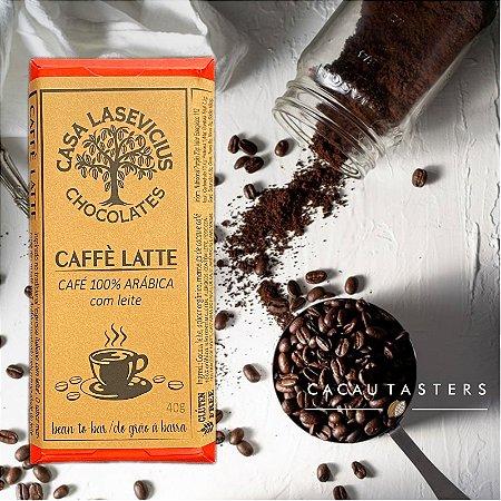 Barra de Chocolate Ao leite com Café 100% Arábica - Casa Lasevicius Chocolates