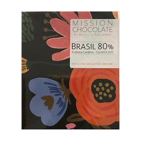 Barra de CHOCOLATE BRASIL 80% – MISSION CHOCOLATES by Arcelia Gallardo