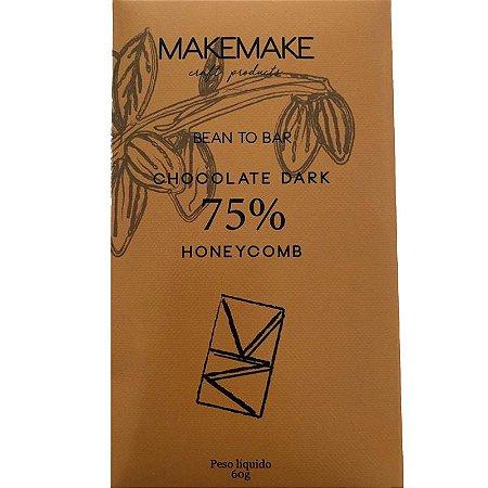 BARRA DE CHOCOLATE DARK 75% HONEYCOMB - MAKE MAKE