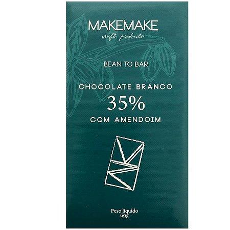 BARRA DE CHOCOLATE BRANCO 35% COM AMENDOIM - MAKE MAKE