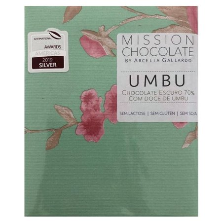 Barra de CHOCOLATE ESCURO 70% COM DOCE DE UMBU – MISSION CHOCOLATES by Arcelia Gallardo