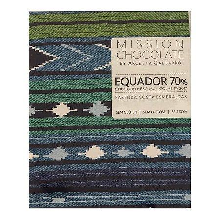 Barra de CHOCOLATE ESCURO DO EQUADOR 70%  – MISSION CHOCOLATES by Arcelia Gallardo