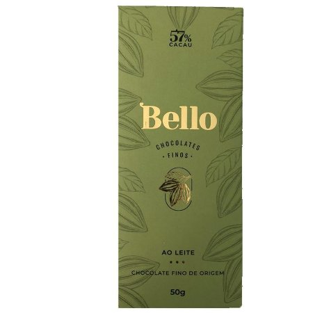 Barra de Chocolate AO LEITE 57% Cacau - Bello Chocolates Finos