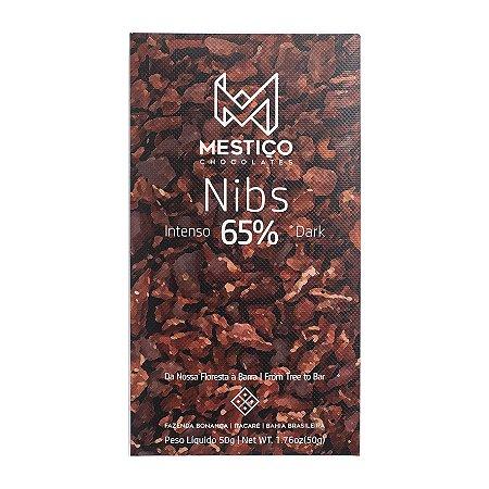 Barra de Chocolate 65% Cacau com pedacinhos de Nibs - Mestiço