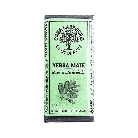 Barra de Chocolate Branco Yerba Mate - Casa Lasevicius Chocolates