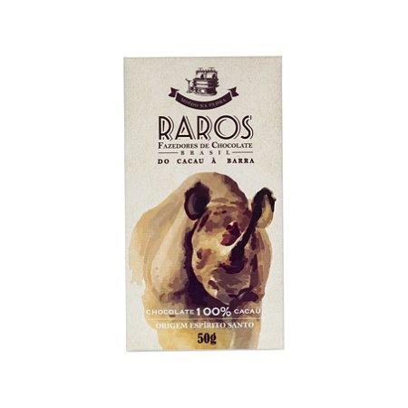 Barra de Chocolate 100% Cacau Origem Espírito Santo - Raros Fazedores de Chocolate