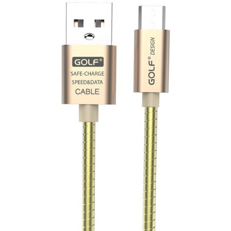 Cabo GOLF MICROUSB Android Universal 2.4A METAL 1m