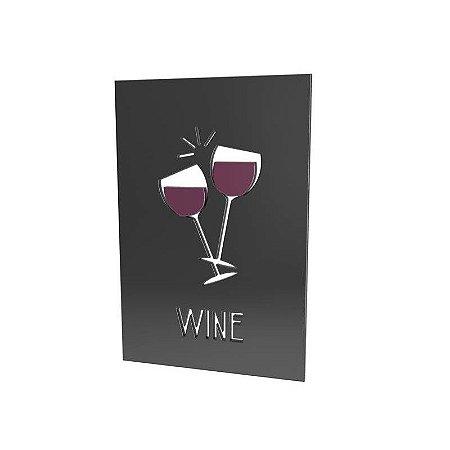 Placa Laqueada Wine Mdf