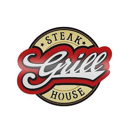 Placa Laqueada Artesanal 3D - Grill Steak House